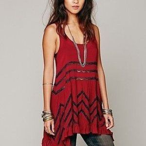 Free People Intimately Volie and Lace Trapeze Slip